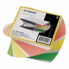 Бумага для заметок в цветном блоке inФормат 80*80*40, 500 листов, ассорти
