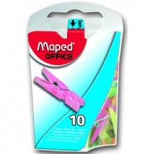 "Зажим Maped ""Прищепка"", 10шт., ассорти"