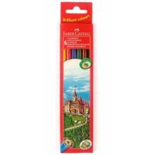 Карандаши цветные «Замок» Faber-Castell, 6 цветов, длина 175 мм
