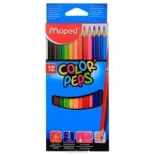 Карандаши цветные Maped Color Peps, 12 цветов, длина 175 мм