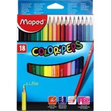 Карандаши цветные Maped Color peps, 18 цветов, длина 175 мм
