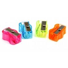 Точилка пластиковая «Волна», 1 отверстие, с блестками, ассорти (цена за 1 шт.)