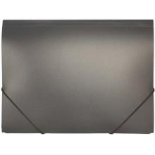 Папка пластиковая на резинке inФормат, толщина пластика 0,5 мм, черная