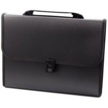 Портфель пластиковый 13 отделений inФормат, 330×250×40 мм, черный