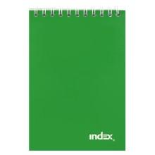 Блокнот на гребне Index, 101×146 мм, 40 л., зеленый