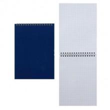 Блокнот на гребне для конференций, 145×205 мм, 60 л., синий