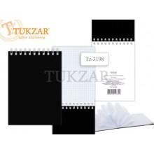 Блокнот на гребне Tukzar с пластиковой обложкой TZ 3198, A5  60л., черный