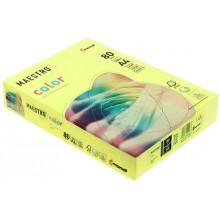 Бумага офисная цветная Maestro, А4 (210×297 мм), 80 г/м², 500 л., желтый неон
