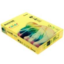 Бумага офисная цветная Maestro, А4 (210×297 мм), 80 г/м², 500 л., канареечно-желтая