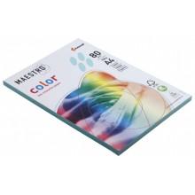 Бумага офисная цветная Maestro (формат А4 в упаковке по 100 листов), А4 (210×297 мм), 80 г/м², 100 л., голубая