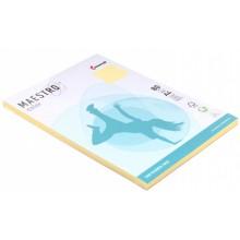 Бумага офисная цветная Maestro (формат А4 в упаковке по 100 листов), А4 (210×297 мм), 80 г/м², 100 л., желтая