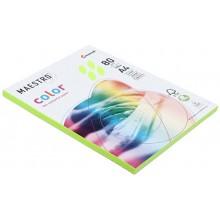Бумага офисная цветная Maestro (формат А4 в упаковке по 100 листов), А4 (210×297 мм), 80 г/м², 100 л., зеленый неон
