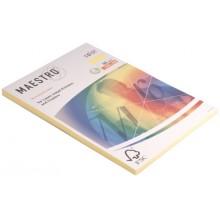 Бумага офисная цветная Maestro (формат А4 в упаковке по 100 листов), А4 (210×297 мм), 80 г/м², 100 л., канареечно-желтая