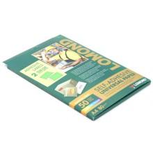 Бумага самоклеящаяся для изготовления этикеток Lomond, А4, 2 шт., 210×148,5 мм, матовая, зеленая