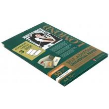 Бумага самоклеящаяся для изготовления этикеток Lomond, А4, 3 шт., 210×99 мм, матовая, белая