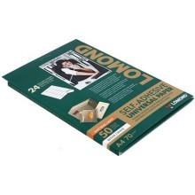 Бумага самоклеящаяся для изготовления этикеток Lomond, А4, 24 шт., 70×37 мм, матовая, белая