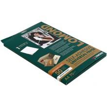 Бумага самоклеящаяся для изготовления этикеток Lomond, А4, 1 шт., 210×297 мм, матовая, белая