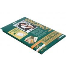 Бумага самоклеящаяся для изготовления этикеток Lomond, А4, 16 шт., 99,1×33,9 мм, матовая, белая