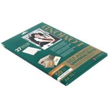 Бумага самоклеящаяся для изготовления этикеток Lomond, А4, 27 шт., 70×32 мм, матовая, белая