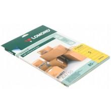 Бумага самоклеящаяся для изготовления этикеток Lomond, А4, 5 шт., 210×57 мм, матовая, лимонно-желтая