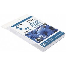 Бумага для струйной фотопечати матовая односторонняя Colortek, А6 (100×150 мм), 230 г/м², 50 л.