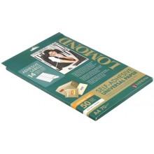 Бумага самоклеящаяся для изготовления этикеток Lomond, А4, 14 шт., 105×42,3 мм, матовая, белая