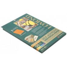 Бумага самоклеящаяся для изготовления этикеток Lomond, А4, 1 шт., 210×297 мм, матовая, оранжевый неон