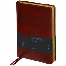 "Ежедневник недатир. A5, 160л., кожзам, Berlingo ""xGold"", зол. срез, коричневый"