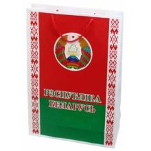 Пакет с символикой Беларуси, большой, 300×450 мм, герб и флаг