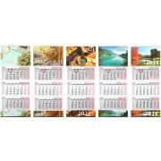 Календарь настенный трехрядный на 2021 год с металл. планкой «Типография Победа», ассорти