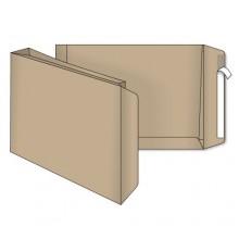 Конверт-пакет почтовый, 280×400*40 мм, силикон, чистый, крафт, с расширенным дном
