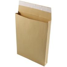 Конверт-пакет почтовый inФормат, 250×353×40 мм, силикон, чистый, крафт, с расширенным дном