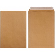 Конверт-пакет почтовый, 229×324 мм, силикон, чистый, крафт