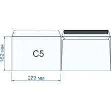 Конверт С5 (162х229),PostFix, белый, силикон, вн.запечатка, 80гр/м2