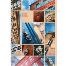 Тетрадь общая А4, 96 л. на гребне «Городской стиль», 200×285 мм, клетка, «Архитектурные акценты»