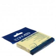 Бумага для заметок с липким краем Economix, 75×50 мм, 1 блок×100 л., желтая