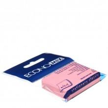Бумага для заметок с липким краем Economix, 38×50 мм, 1 блок×100 л., розовая