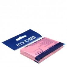 Бумага для заметок с липким краем Economix, 50×75 мм, 1 блок×100 л., розовая