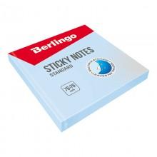 "Бумага для заметок с липким краем Berlingo ""Standard"", 76*76мм, 100л, голубой"