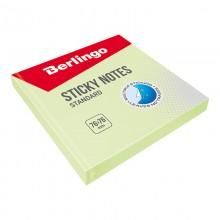 "Бумага для заметок с липким краем Berlingo ""Standard"", 76*76мм, 100л, зеленый"
