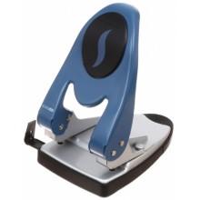 Дырокол Economix, 170×110 мм, 60 л., серый с синим