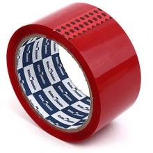 Клейкая лента упаковочная цветная Klebebander, 48 мм×57 м, толщина ленты 40 мкм, красная