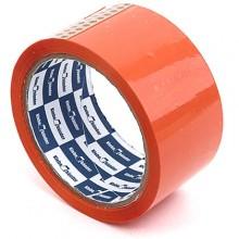 Клейкая лента упаковочная цветная Klebebander, 48 мм×57 м, толщина ленты 40 мкм, оранжевая