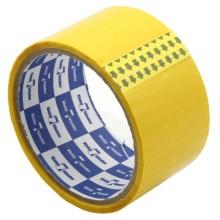 Клейкая лента упаковочная цветная Klebebander, 48 мм×25 м, толщина ленты 40 мкм, желтая