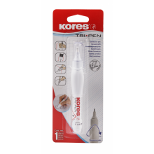 "Корректирующая ручка Kores ""Tri Pen"", 10 гр., металлический наконечник, блистер"