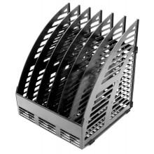 Лоток вертикальный сборный Эсир, 250×240×290 мм, 6 секций, черный