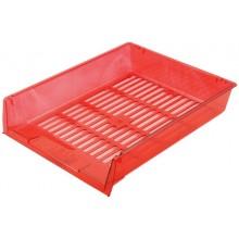 Лоток горизонтальный Юниопт «Престиж», 340×270×60 мм, прозрачный красный