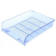 Лоток горизонтальный Юниопт «Престиж», 340×270×60 мм, прозрачный синий