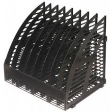 Лоток вертикальный сборный Эсир, 330×240×290 мм, 8 секций, черный