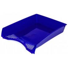Лоток горизонтальный Юниопт «Офис-Класс», 330×250×65 мм, синий